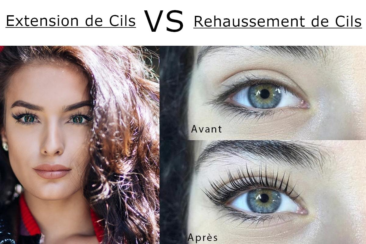 rehaussement de cils ou extension de cils